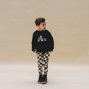【20AW】カーラインク(CARLIJNQ)checker sweat pants スウェットパンツ  ブロックチェック