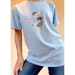 Tシャツ(ブルー 弾けたピーチ)