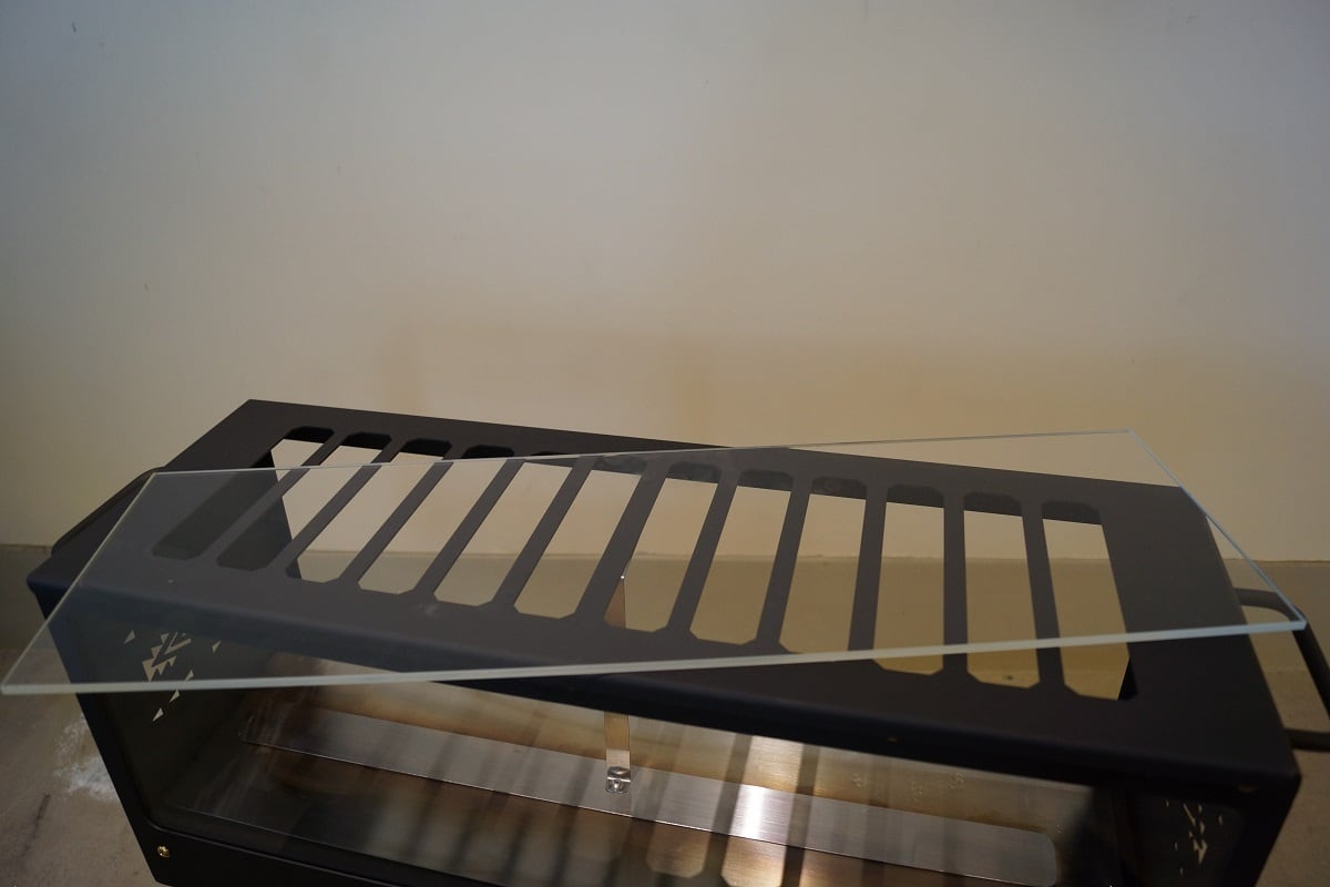 「受注生産品」TENTO暖炉CPD1~4専用 交換部品「耐熱ガラスW590×高さ182×5mm」一枚