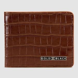 ゴールドブラック(GOLDBLACK) GM WALLET CROCO BROWN