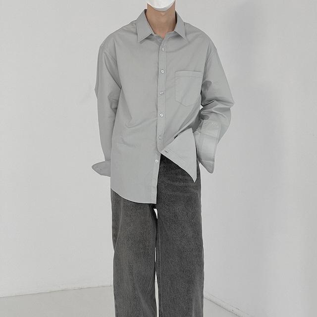 Casual cotton lapel shirt   b-498