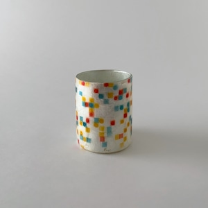 Votive Candleholder / Vase Pixelized Dots|ボーティブ キャンドルホルダー フラワーベース ピクセライズド ドット