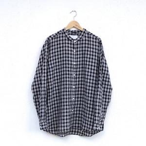 "MUYA  Atelier shirts relax stand collar ""Paraca check"""