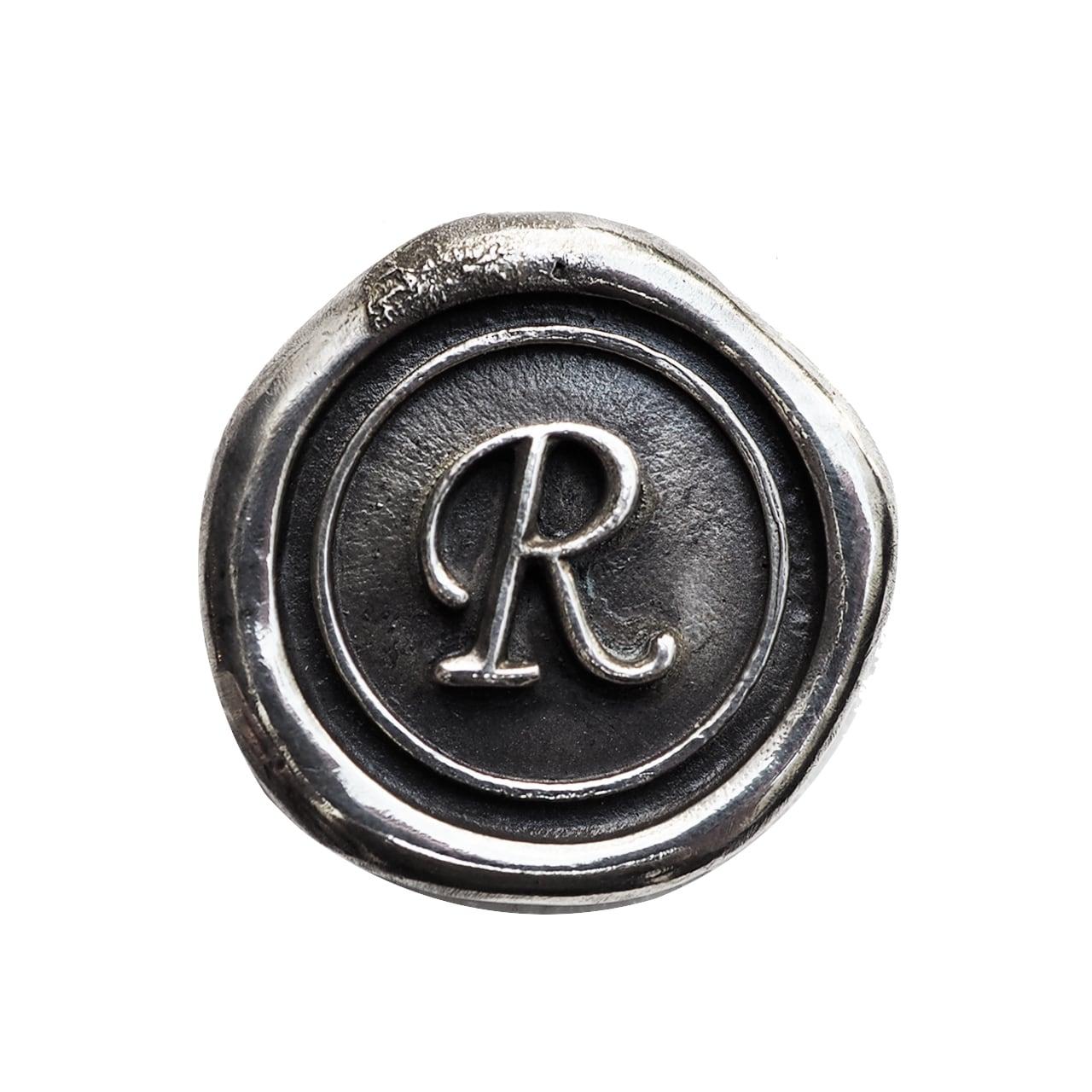 シーリングイニシャル S 〈R〉 シルバー / コンチョボタン