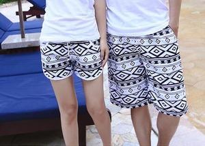 5404ビーチ用サーフパンツ メンズ レディース 男女ペア ペアルック ショートパンツ ハーフパンツ