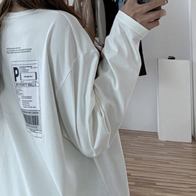 ミッドレングス長袖Tシャツ 2色 【210467】 大きいサイズあり