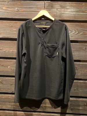 Green Clothing  Light Fleece Henrey Neck  BLACK  Mサイズ