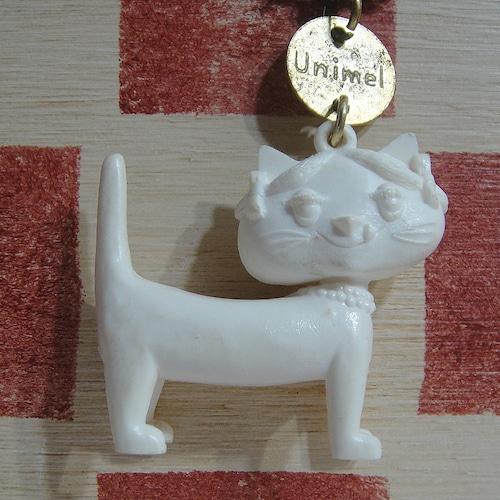 フランス Unimel[ユニメル]お菓子会社リトルキャットキーホルダー(ホワイト)