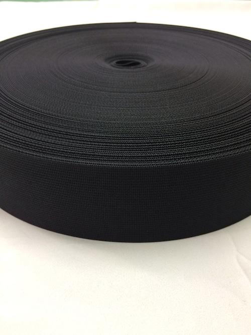 ショルダーベルトに最適な ナイロン ベルト 高密度 50mm幅 1mm厚 黒 1反(50m)