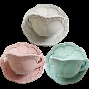 Chemical lathe cup & saucer / ケミカルレース カップ&ソーサー