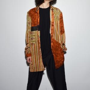 "Crazy Pattern ""NIPPON SILK"" Shirt Coat 〈D〉"