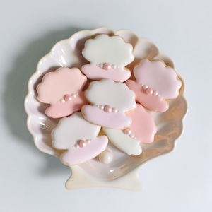 【3個入り】パールシェルのアイシングクッキー