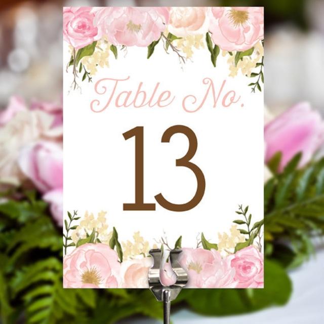テーブルナンバー【Floral】