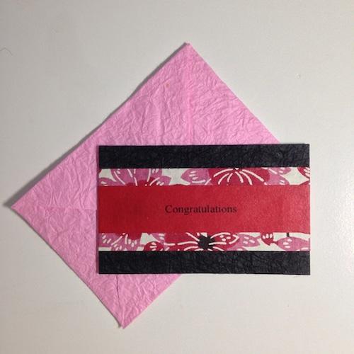 和紙のお祝いカード(Congratulations004)