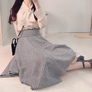 【即納】千鳥格子柄スカート