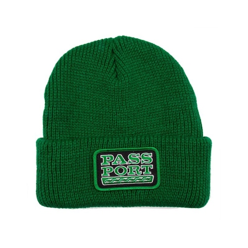 PASS PORT / AUTO PATCH BEANIE -KELLY GREEN-