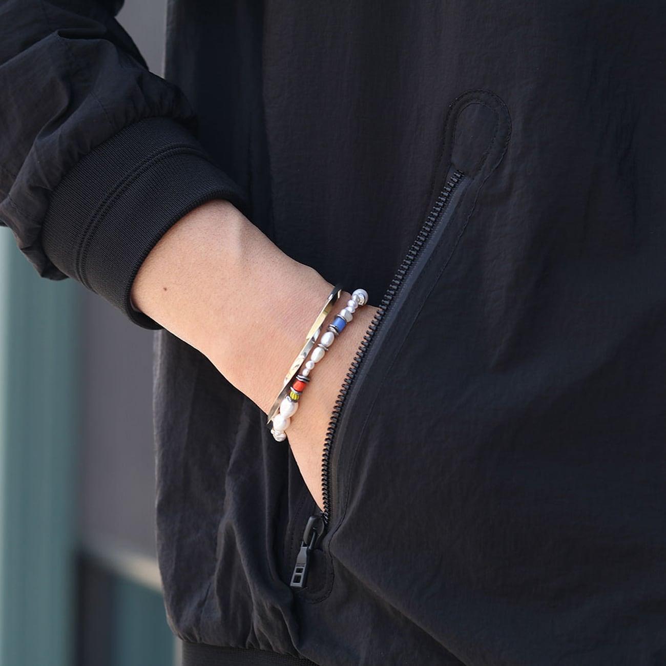 amp japan/アンプジャパン African bees x Pearl bracelet NHHK-422
