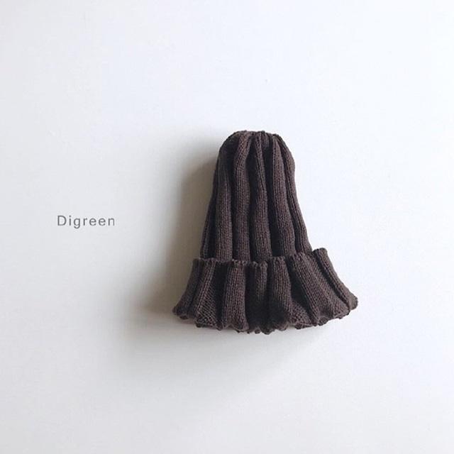 リブニット帽 [brown]