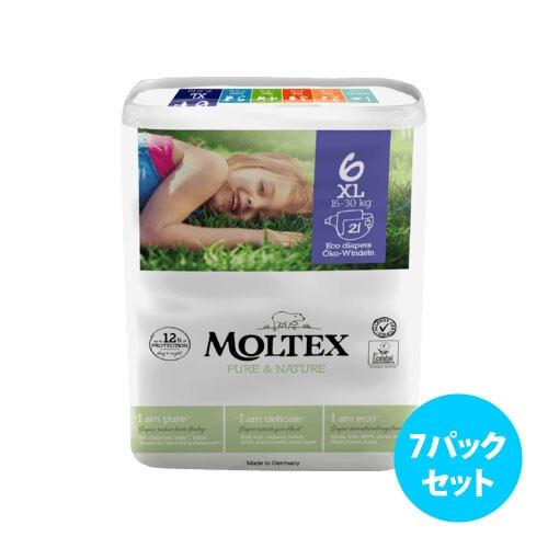 [7パックセット] Moltex Nature No. 1 紙おむつ(サイズ 2~6)