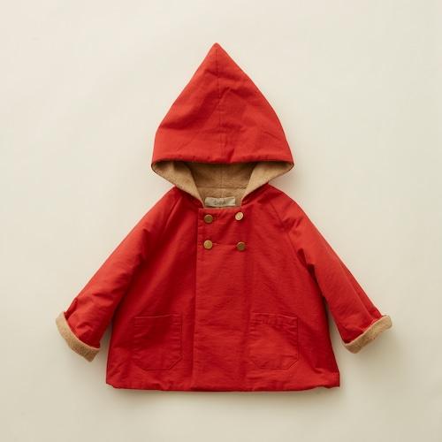 《eLfinFolk 2021AW》elf coat / red / 90-100cm