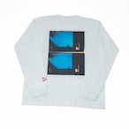 K'rooklyn Long T-Shirt × Yusuke Oishi (MARCOMONK)- Gray