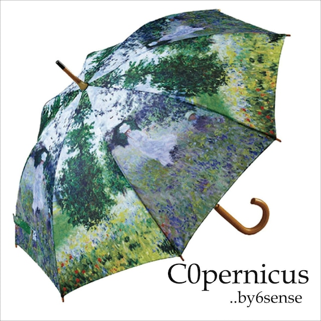 umbrella モネ【散歩 】名画木製ジャンプ傘  浜松雑貨屋Copernicus