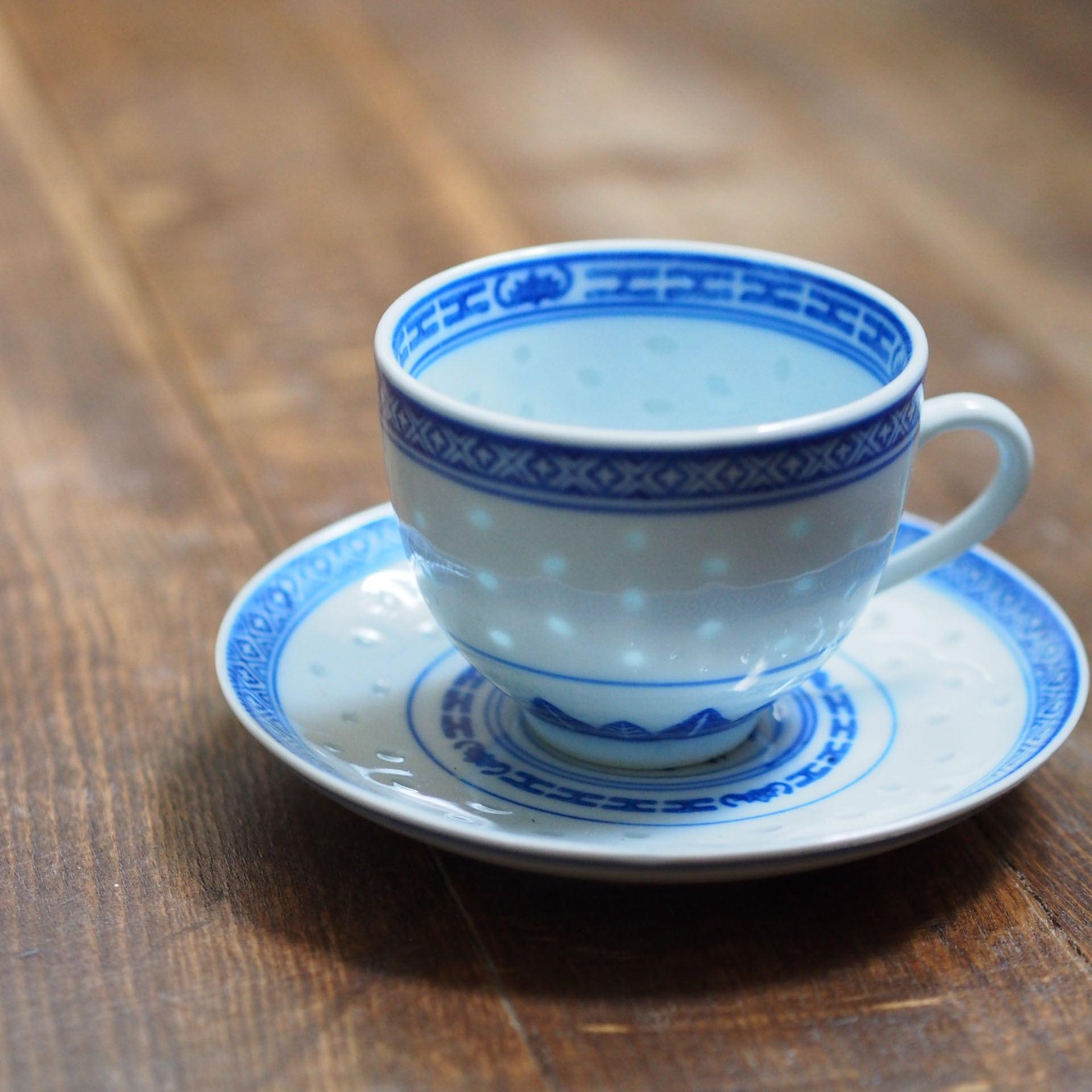 『ちいさめのカップ&ソーサー/Blue&White』景徳鎮/ホタル