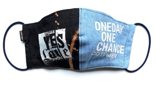 【COTEMER マスク 日本製】ONE DAY ONE CHANCE DENIM × BLEACH MASK 0520-153