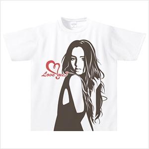 【受注発注商品】Love me? ドライTシャツ(ホワイト) Mサイズ