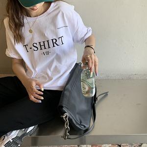 T-SHIRTロゴプリントTシャツ S3728