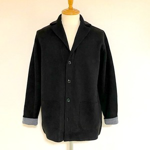 Switch Color Knit Jacket Black