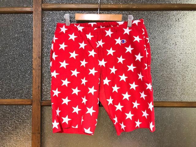CHAMPION REVERSE WEAVE SWEAT SHORT PANTS (RED/STAR)