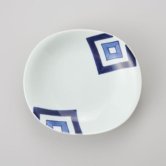 【青花】EDO 両切カレー皿