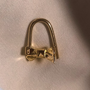 ribbon pin earring short #1727 18G K18YellowGold