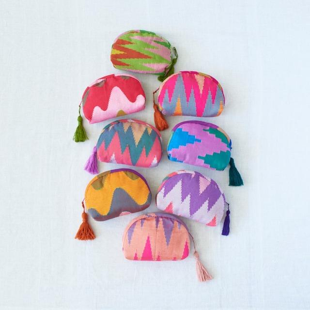 手織りポーチ カラフル