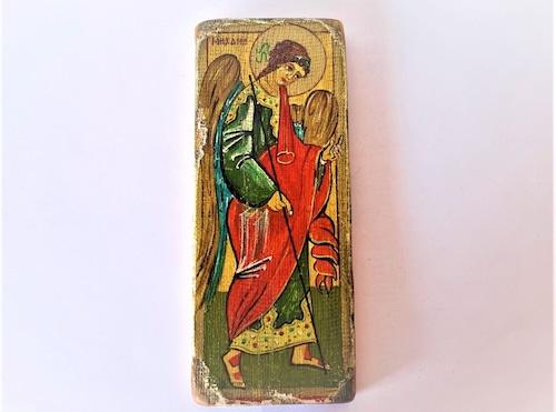 イコン画 大天使ミカエル 壁掛板絵 宗教美術