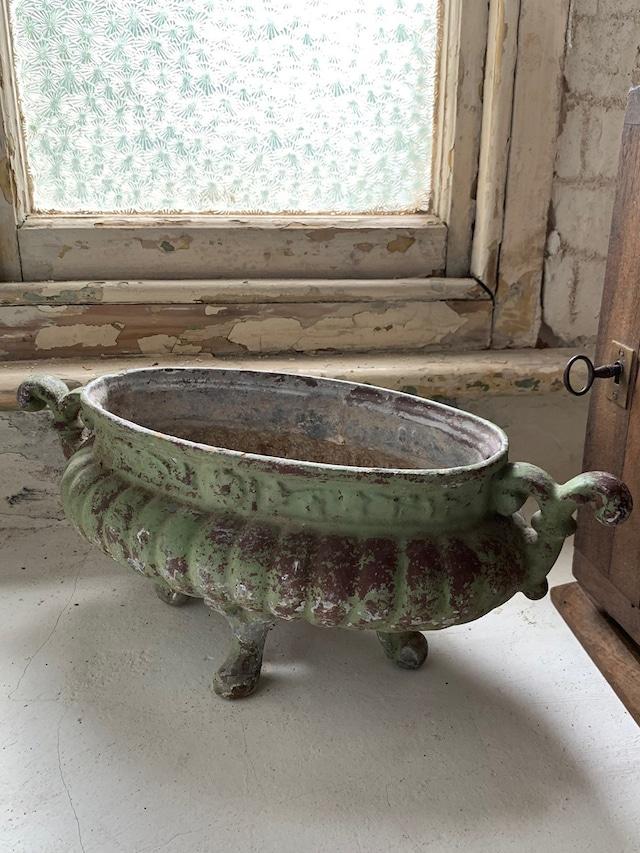 グリーンシャビー フラワーポット 花器 プランター 植木鉢 フラワーベース