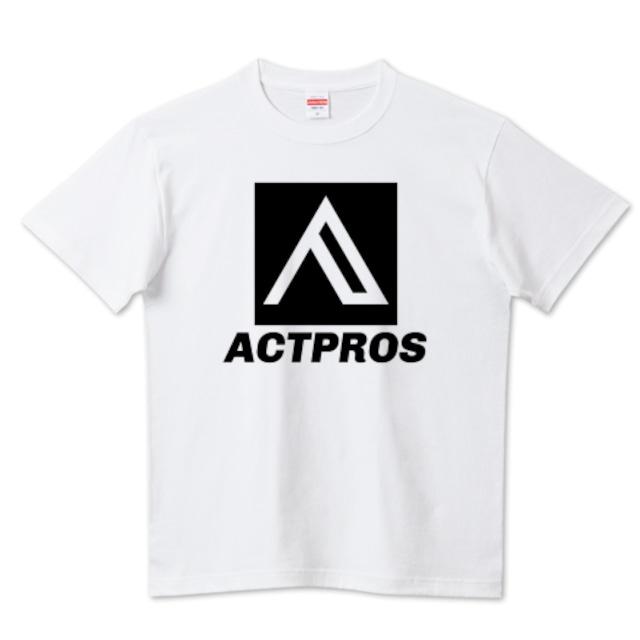 【MEN'S】ACTPROS スクエアロゴ(BOX B-TYPE) 5.6ハイクオリティーTシャツ(United Athle) ホワイト【9colors】