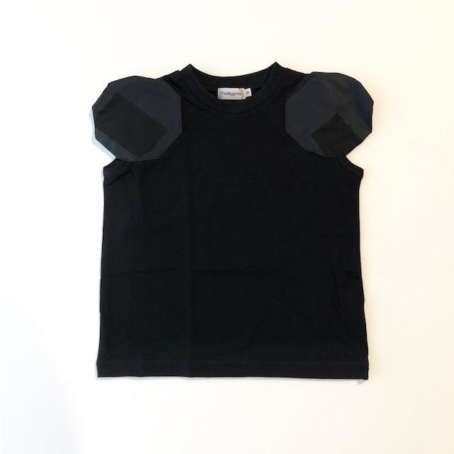 【21SS】フランキーグロウ ( frankygrow ) DISTORTED CIRCLR SLEEVE TEE[ S / M / L ]black‐black×BK Tシャツ トップス