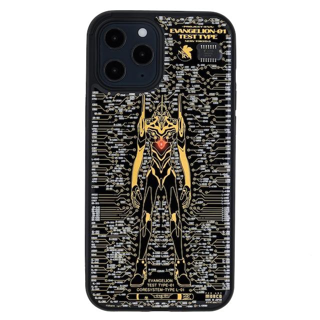 FLASH EVA01 基板アート iPhone 12 Pro Max ケース 黒【東京回路線図A5クリアファイルをプレゼント】