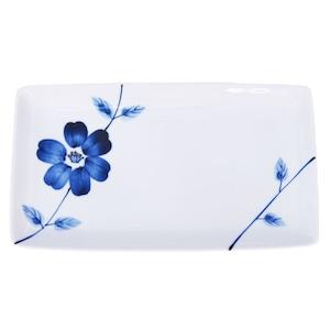 波佐見焼 WAZAN 和山窯 flowers 長角プレート 皿 ラインフラワー 326912