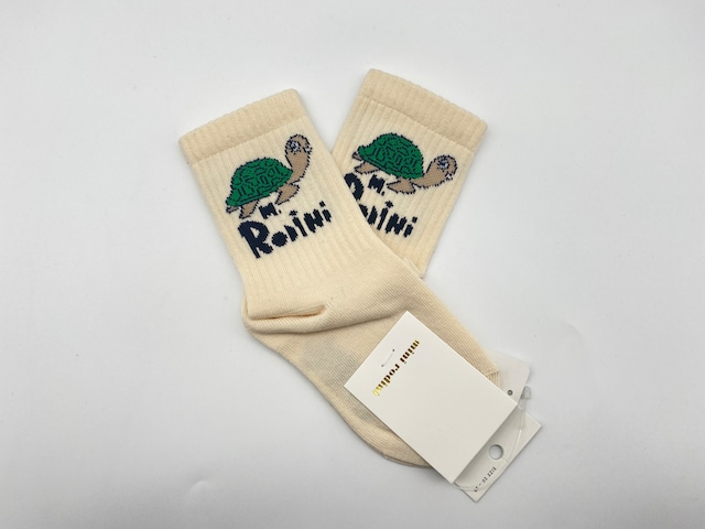 【21AW pre】minirodini( ミニロディーニ )turtle socks  靴下