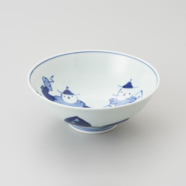 """【青花】""""オランダ万才"""" 6.5寸中華丼"""