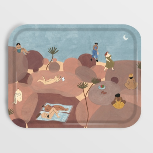 WRAP / Hikers Rectangle Art Tray - Illustrated by Isabelle Feliu-