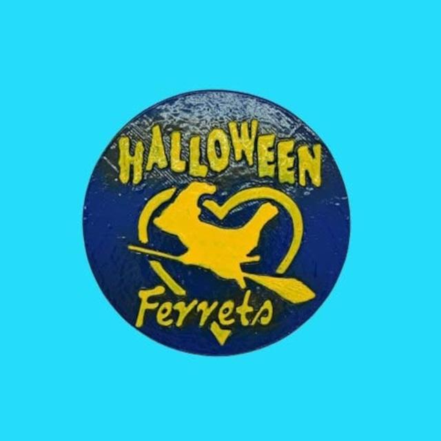僕たちフェレット Halloween マグネットステッカー ⓸キャスト製(直径80mm)無料配送