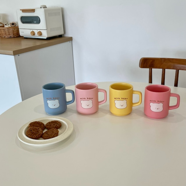 [BAMTOREE] milk bear カラーマグ(全4色)