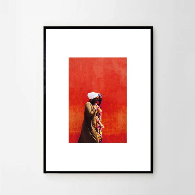 """MARIE BASTIDE / フォト+フレーム32cm×45 cm """"Femme rouge"""""""
