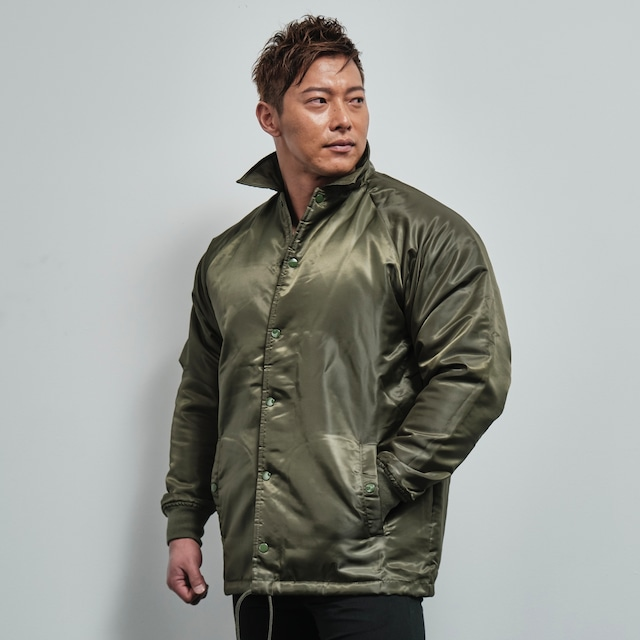 coach jacket with boa lining (OLIVE DRAB)