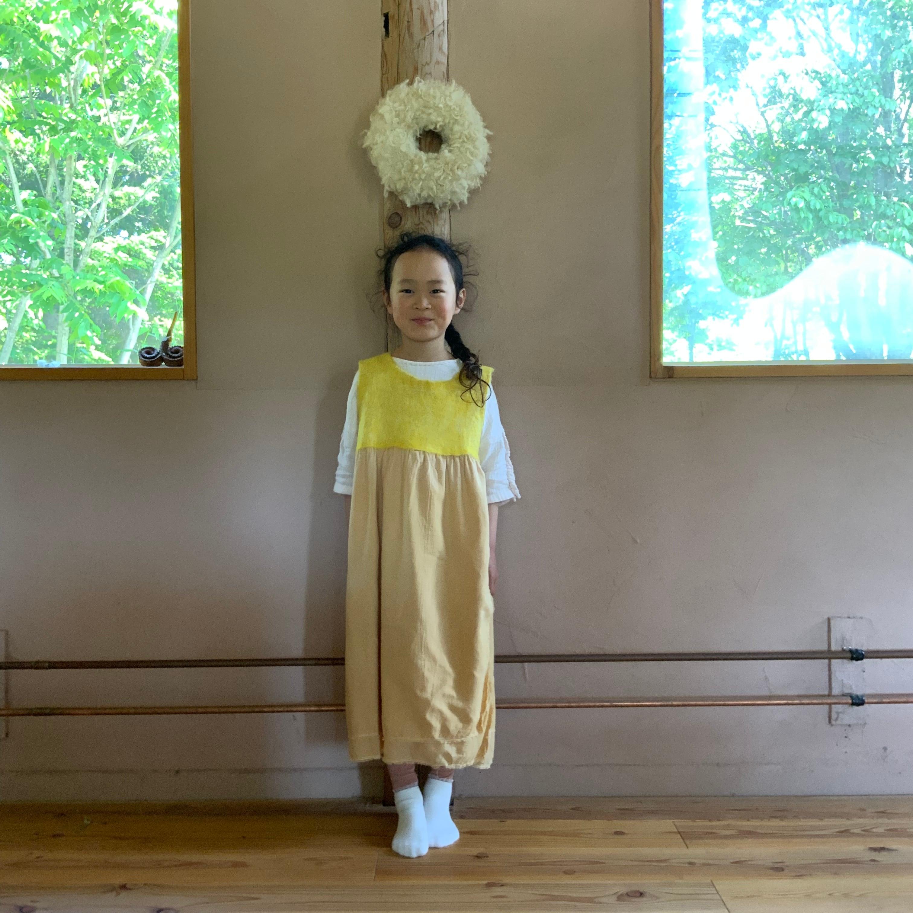 OPCLKL2-21002 ワンピースコリーヌ キッズ ロング丈 黄色