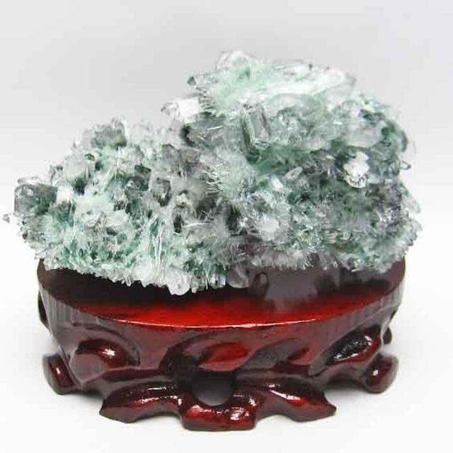 緑水晶 クラスター 台座付属 送料無料 182-594